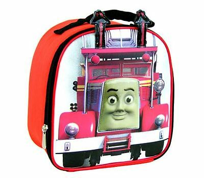 THOMAS THE TANK Engine Train FIRE TRUCK Kids Boy School Insulated Tote Lunch Bag