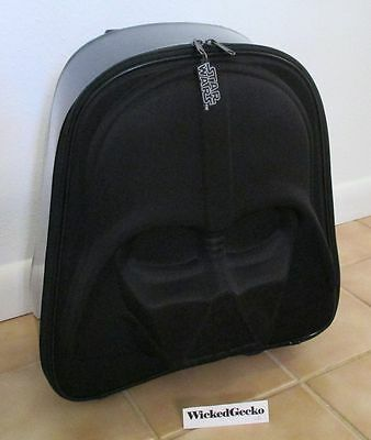 STAR WARS Darth Vader Rolling Luggage w/ light up wheels - Disney Store Excl
