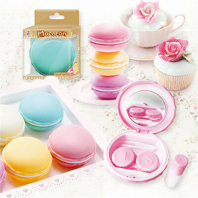 Macarons Contact Lens Case Portable Mini Travel Kit Storage Holder Container Box