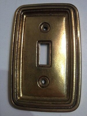 Single Toggle Light Switch Cover Plate Brass Vintage