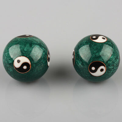 Chinese Green Color Health Exercise Stress Baoding Balls Ying Yang