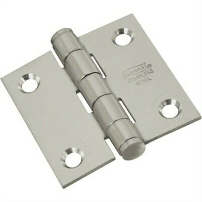 National #N276-964 2x2 Stainless Steel SQ Corn DR Hinge,No N276-964, 3PK