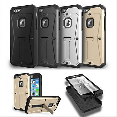 New Luxury 360° Shockproof Protective Hard Case Cover For Apple iPhone 6 6s + 5s
