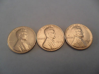 1946 P D S Lincoln Wheat Cent / Penny Coin Set (3 Coins)  **FREE SHIPPING**