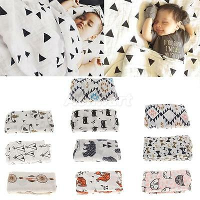 Large Muslin Cotton Baby Swaddle Blanket Unisex Nursing Cover Wrap for Newborn