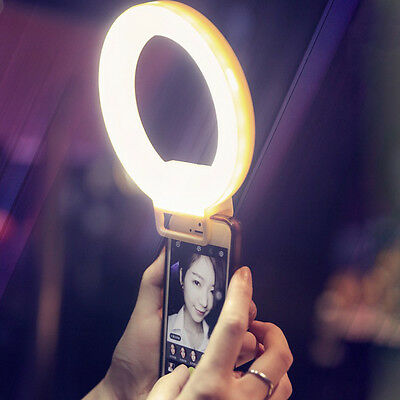USB Selfie Portable LED Ring Flash Fill Bright Light Camera For iPhone Samsung