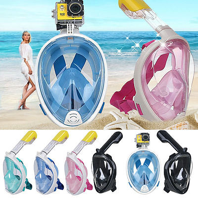 Swimming Diving Breath Anti-fog Mask Surface Snorkel Scuba for GoPro L/XL/S/M