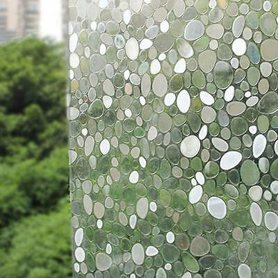 Static Glueless Reusable Removable Privacy Frosted Window Glass Film 45x100cm