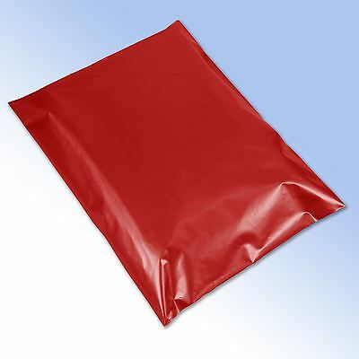 """50 Strong Red Self Seal Plastic Poly Mailing Postage Bags 10x14"""" 250x350mm"""