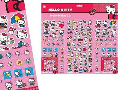 Set 500 Adhesivos Stickers Hello Kitty Xxl