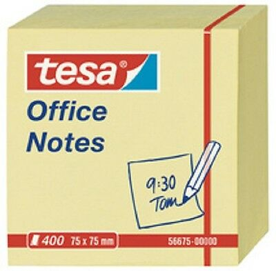 tesa 5 Blocs de notes adhésives Office Notes, 75 x 75 mm, jaune, 2000 feuilles