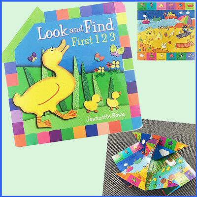 Pop-Out Look & Find Book Children's Play Learning Activity Count Read Fold Books