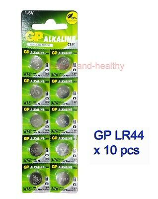 Authentic GP LR44 (A76) Alkaline Batteries x10 pcs FREE Post world-wide