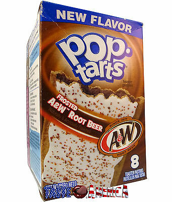 Kelloggs Pop Tarts A&W Root Beer Toaster Pastries 8 Ct 400g