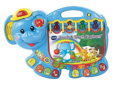 VTech Touch Teach Elephant Book Educational Learning Developmental Baby Toy New