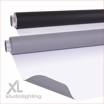 2m x 5m DUO Double Pack - Grey+White, White+Black Vinyl Photographic Backgrounds