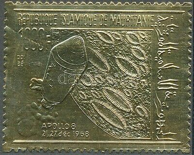 Mauritanie stamp Space research gold foil stamp MNH 1969 Mi 375 WS194405