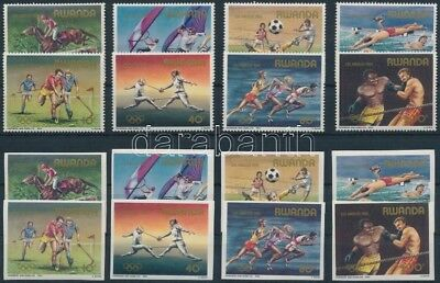Rwanda stamp Los Angeles Summer Olympics perf and imperf set MNH 1984 WS197480