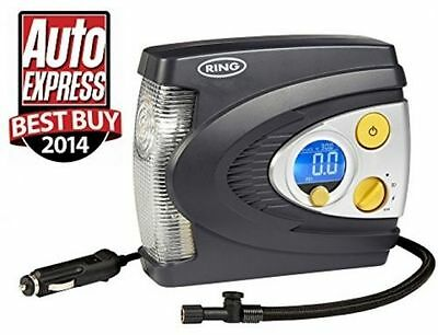 12V Preset Digital Tyre Inflator with Case Adaptor Set and LED Light Best Buy
