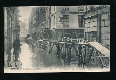 France PARIS Inondations Floods 1910 Rue de Beaune Loius Levy LL PPC