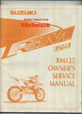 Suzuki RM125 (1999-on) Owners Factory Service Repair Shop Manual Book RM 125 X