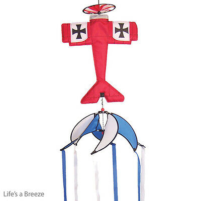 Red Baron Hanging Theme Spinner. Flown From A Telescopic Flag Pole