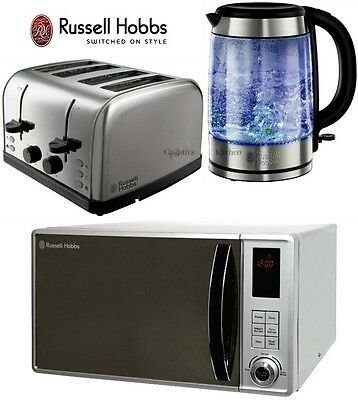 Microwave Kettle and Toaster Set Russell Hobbs Glass Kettle Futura Toaster New