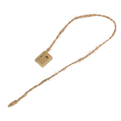 1000 Brown JUTE twine square end tag  String Fastener Labeling Tagging