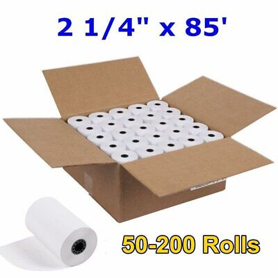 "50-200 Rolls Case 2 1/4"" x 85' Cash Register POS Receipt Thermal Paper Free Ship"