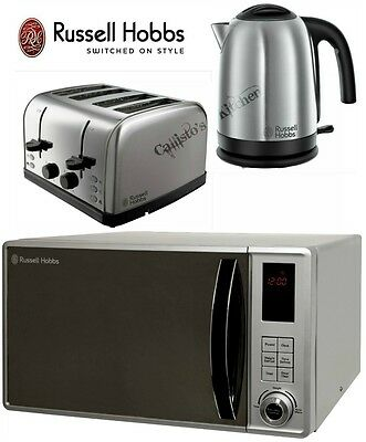 Russell Hobbs Stainless Steel Microwave Kettle and Toaster Set Futura Cambridge