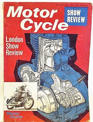 MOTOR CYCLE MAGAZINE British November 26th '1964 London Show Review
