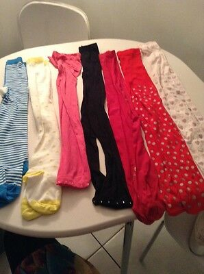 Job Lot Of 7 Pairs Of Tight Mixed Age 5/7 Years