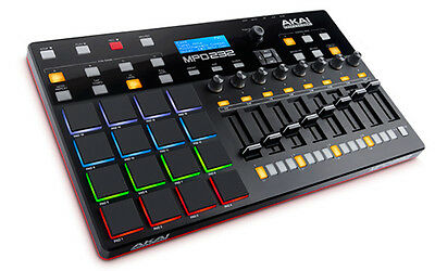 AKAI MPD232 USB Pad Controller w/ 16 Multicolor Backlit MPC Pads & FREE Software