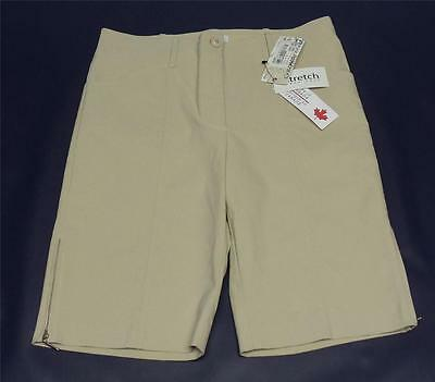 New Ladies Cracked Wheat Beige Bermuda Golf Shorts NWT Size 8