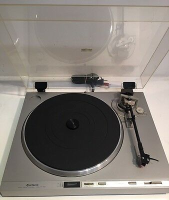 Vintage Hitachi Model HT-40S Direct Drive Unitorque Turntable Record Player