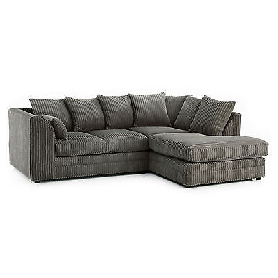 Chicago Jumbo Cord Corner Sofa or 3+2