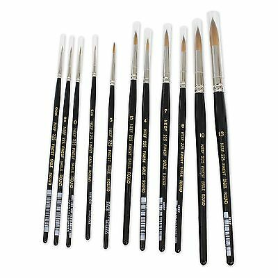 Neef 225 Finest Sable Round Short Handle Single Watercolour Artists' Brush