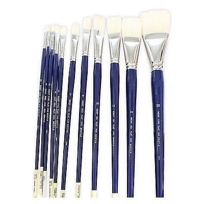 Neef 1150 Flat Interlocked Hoghair Long Handle Artists' Oil Paint Brush