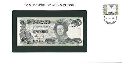 Banknotes of All Nations, Bahamas, $0.50, 1984, P42a, Uncirculated