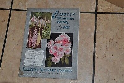 Catalog Elliott's Planting Book 1928 Elliott Nursery Co Pittsburgh PA