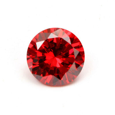 Beautiful 14mm Round Cut Unheated Stunning Red Padparadscha Sapphire Gemstone