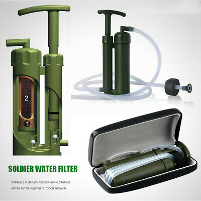 Outdoor Hiking Camping New Portable Army Soldier Survival Water Filter Purifier