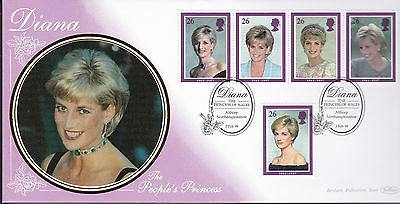 Diana  Benham Silk First DayCover Postmarked Althorp Northamptonshire 3 Feb 1998