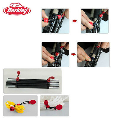 Berkley 2PCS Fishing Rod Holder Tight Rubber Band Strap Wire #A1