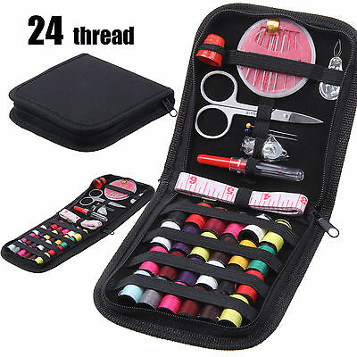 Portable Travel Home Sewing Kit Case Needle Thread Tape Scissor Button Handcraft
