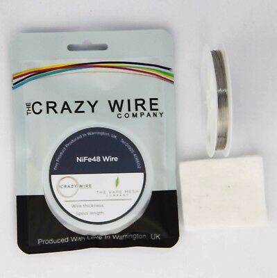 0.4mm (26 AWG) - NiFe48 Wire (48% Nickel) - 4.13 ohms/m - TCR - 3100