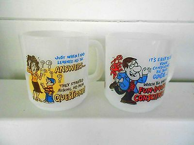 Vintage Pyrex Mugs - 2 In Total - Excellent Conditon