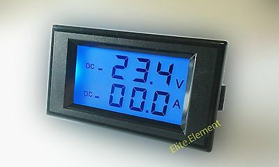 Battery Monitor Charge Discharge Current +/- 100A Voltage 0-600V Combo AMP Meter