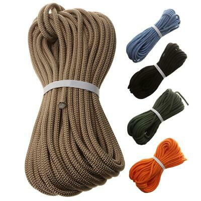 8mm 10/20/30/40m Durable Rock Climbing Safety Rappelling Rope Auxiliary Cord