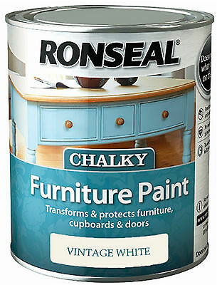 ronseal chalky finish furniture paint 750ml all colours chalk